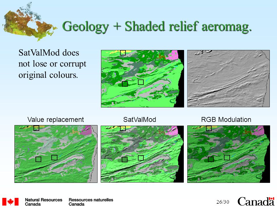 26/30 Geology + Shaded relief aeromag.