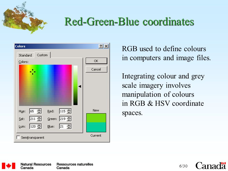 6/30 Red-Green-Blue coordinates RGB used to define colours in computers and image files.