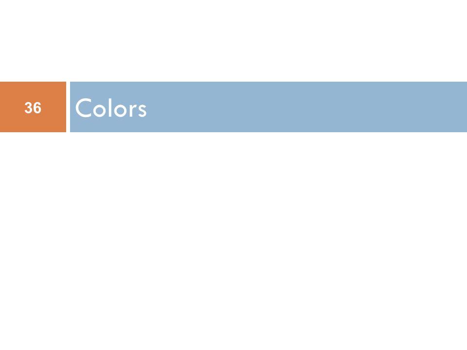 Colors 36