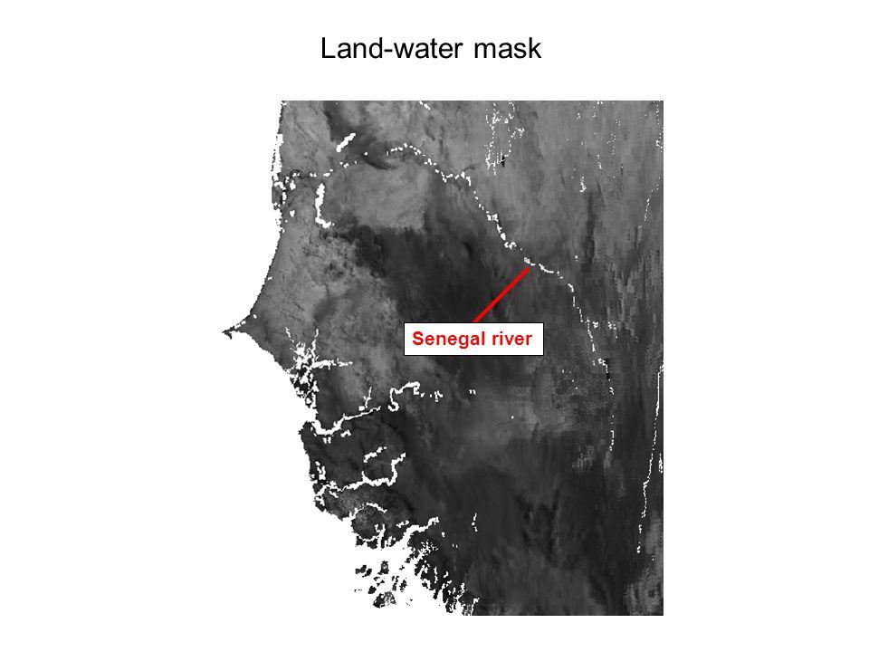Land-water mask Senegal river