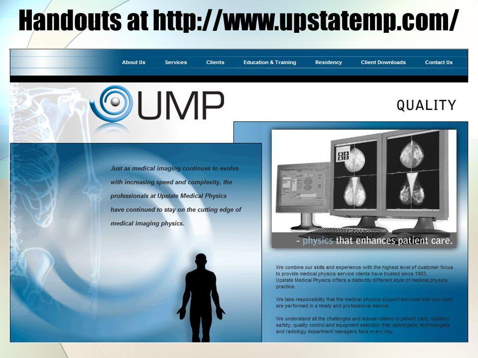Handouts at http://www.upstatemp.com/