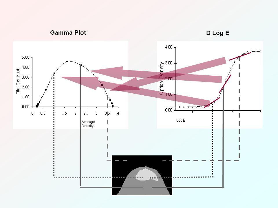 Average Density Gamma Plot Log E D Log E