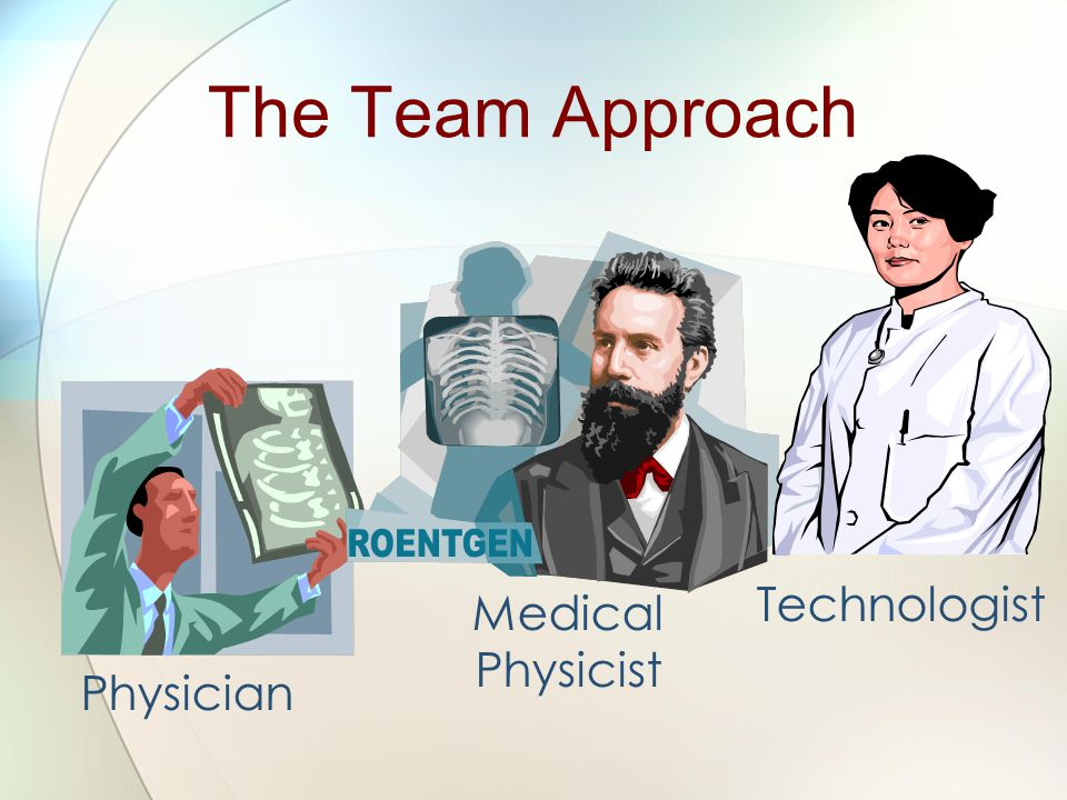 Physician Technologist Medical Physicist The Team Approach