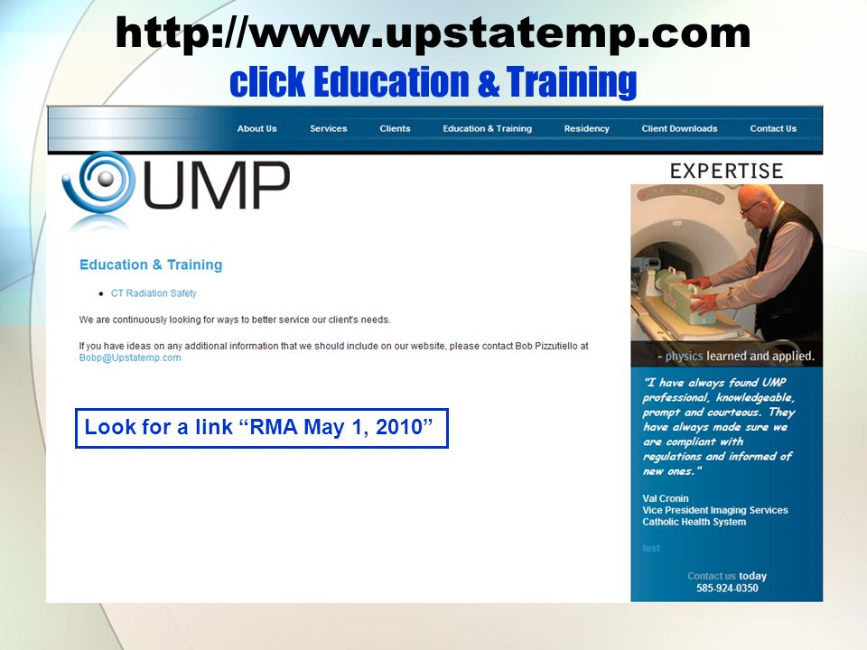 http://www.upstatemp.com click Education & Training Look for a link RMA May 1, 2010