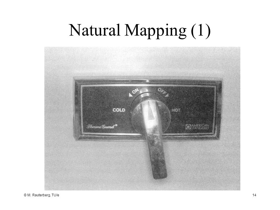 © M. Rauterberg, TU/e14 Natural Mapping (1)