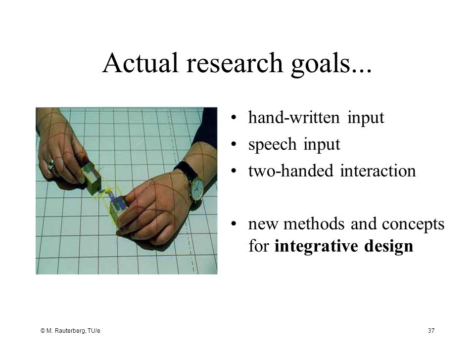 © M. Rauterberg, TU/e37 Actual research goals...
