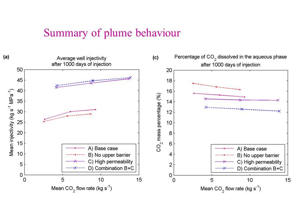 Summary of plume behaviour