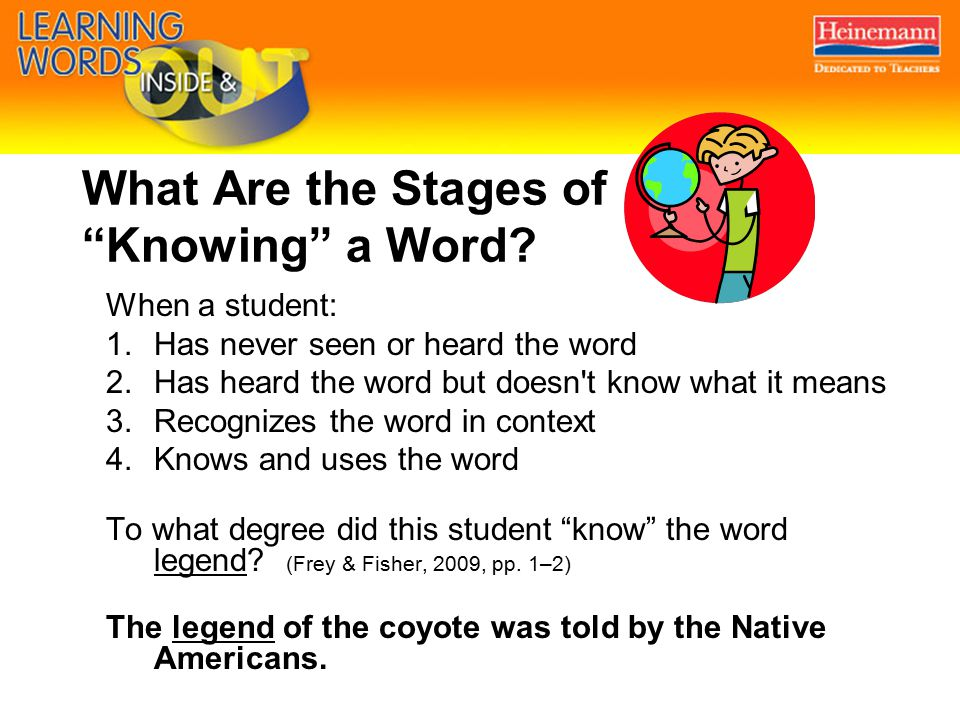 What Are the Stages of Knowing a Word.