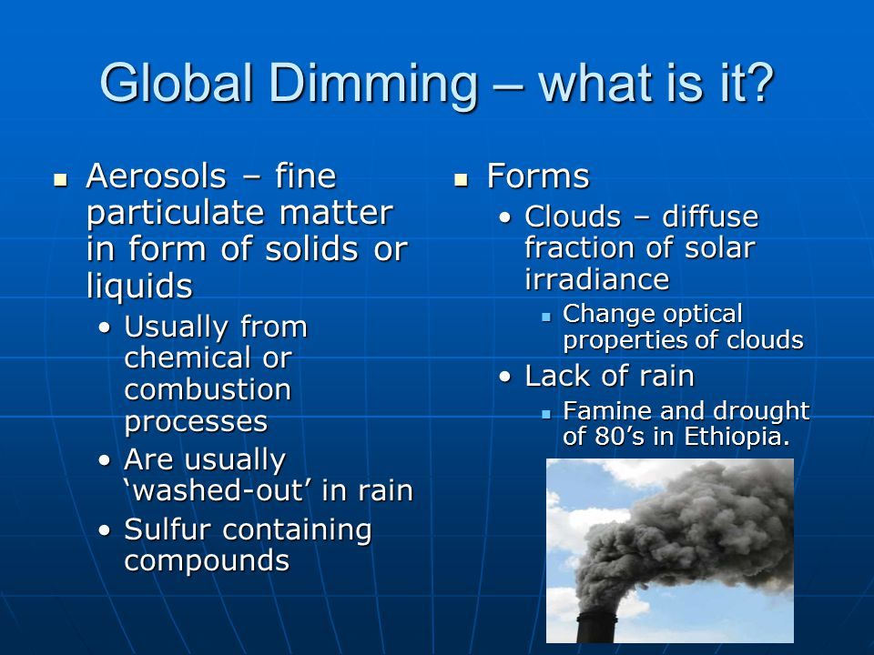 Global Dimming – what is it.