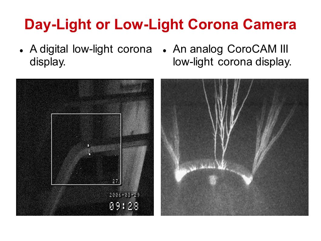Day-Light or Low-Light Corona Camera A digital low-light corona display.