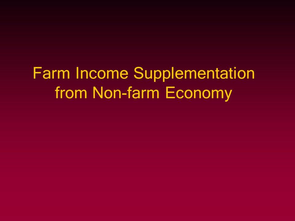 Farm Income Supplementation from Non-farm Economy