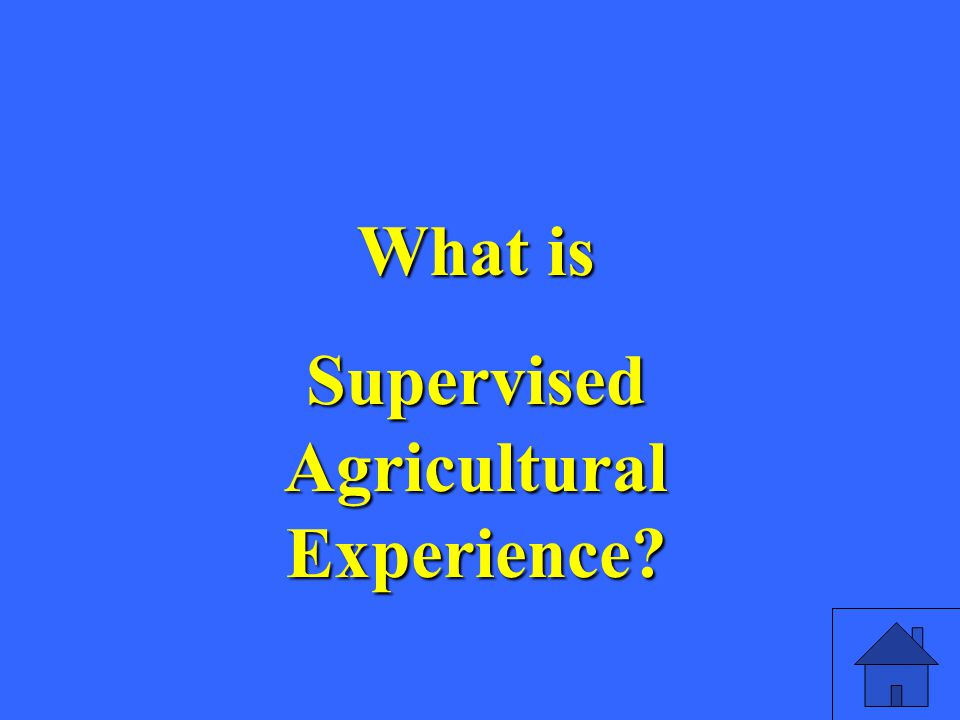 What is Supervised Agricultural Experience