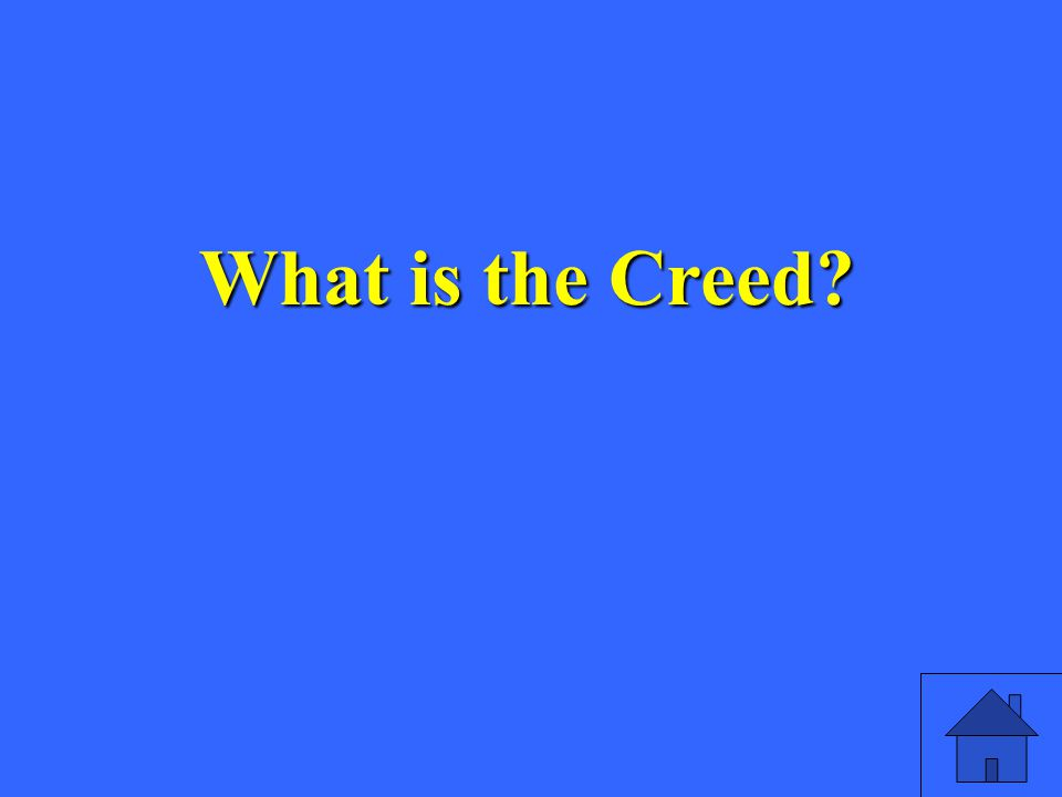 What is the Creed