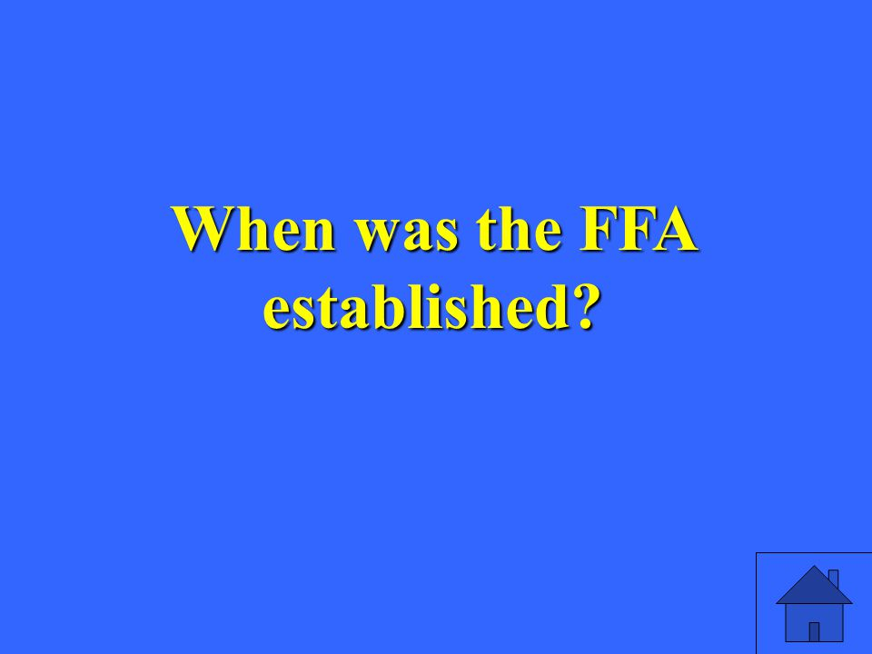 When was the FFA established