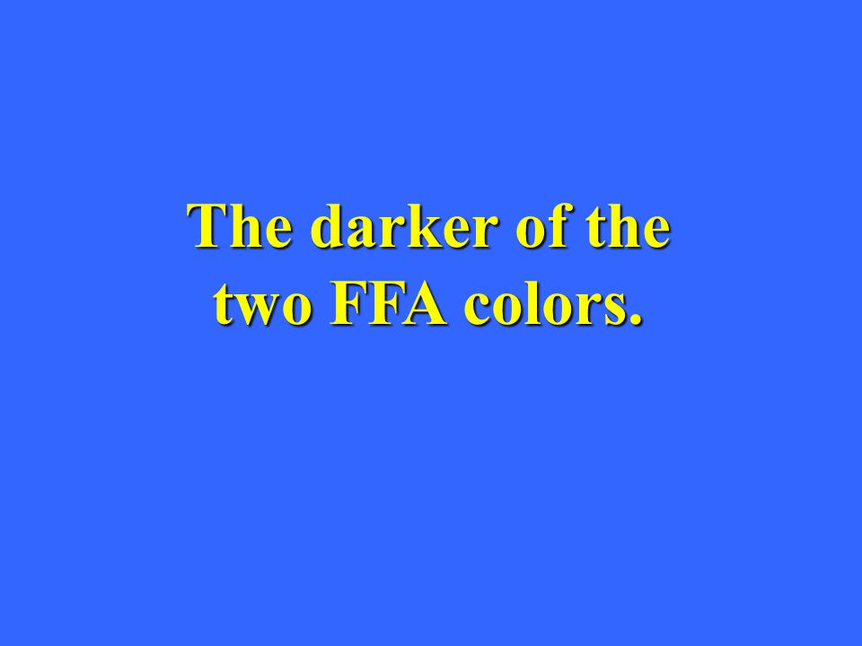 The darker of the two FFA colors.