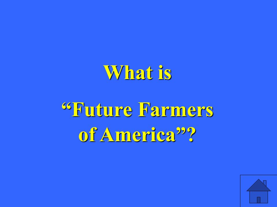 What is Future Farmers of America
