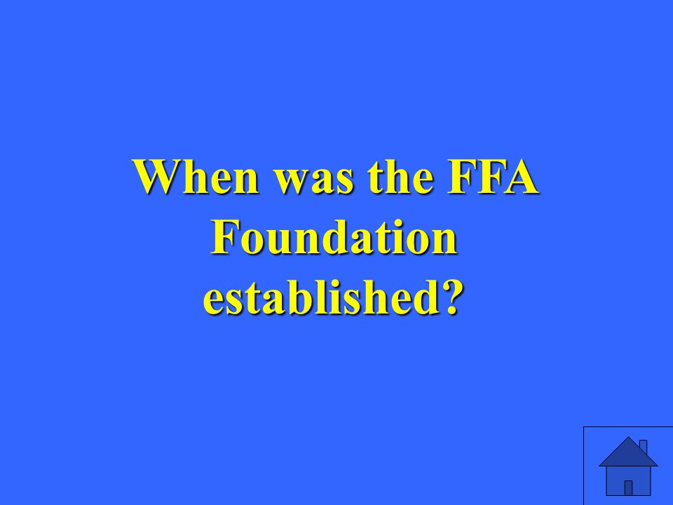 The letters FFA used to stand for this – before 1988.