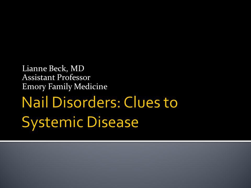  Causes  Onychomycosis  Chronic eczema  Peripheral vascular disease  Yellow nail syndrome  Psoriasis  Not cutting the nails, trauma