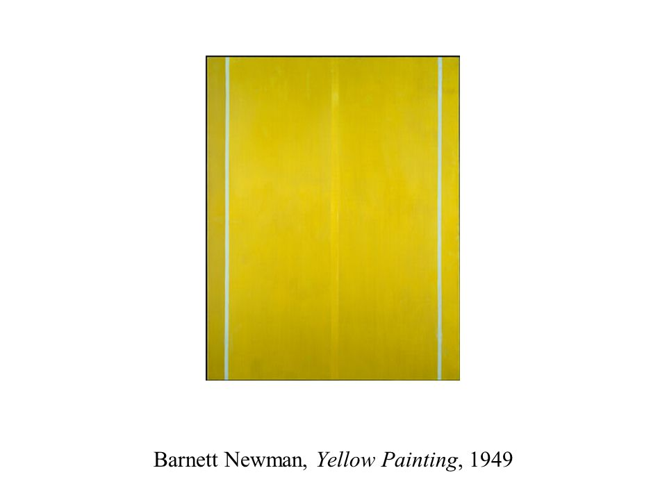Barnett Newman, Yellow Painting, 1949