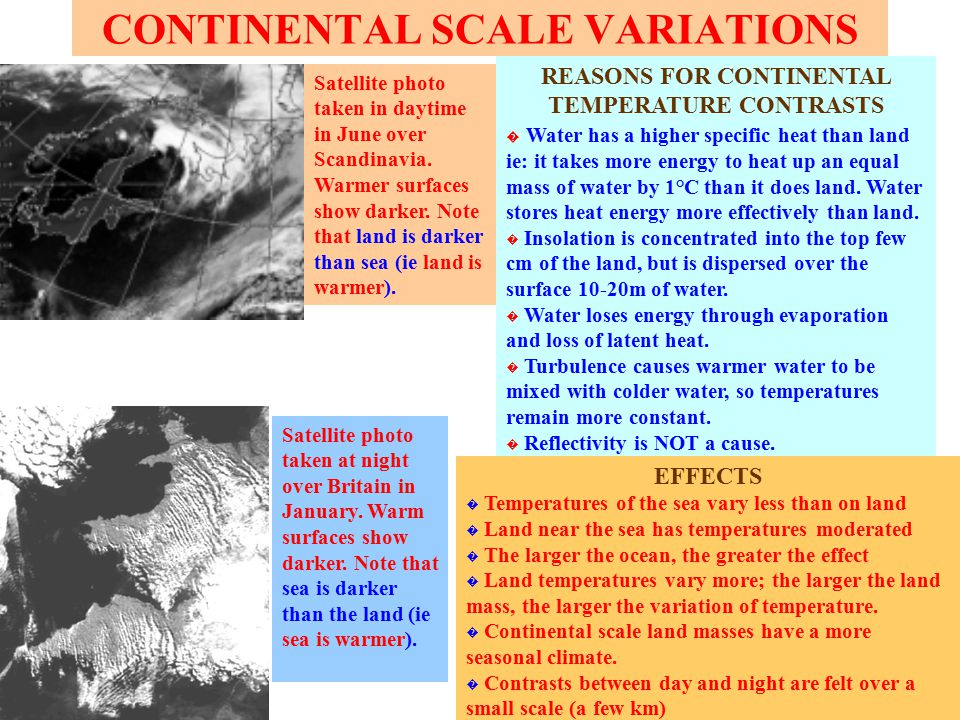SMALL SCALE TEMPERATURE VARIATIONS ALBEDO is the reflectivity of the earth's surface.