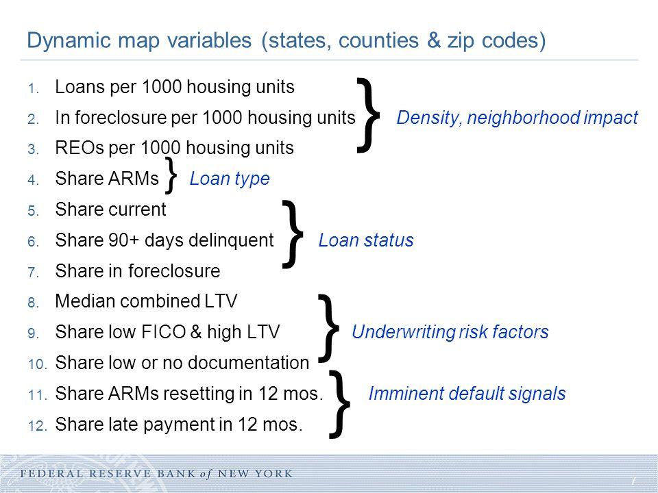 7 1. Loans per 1000 housing units 2.