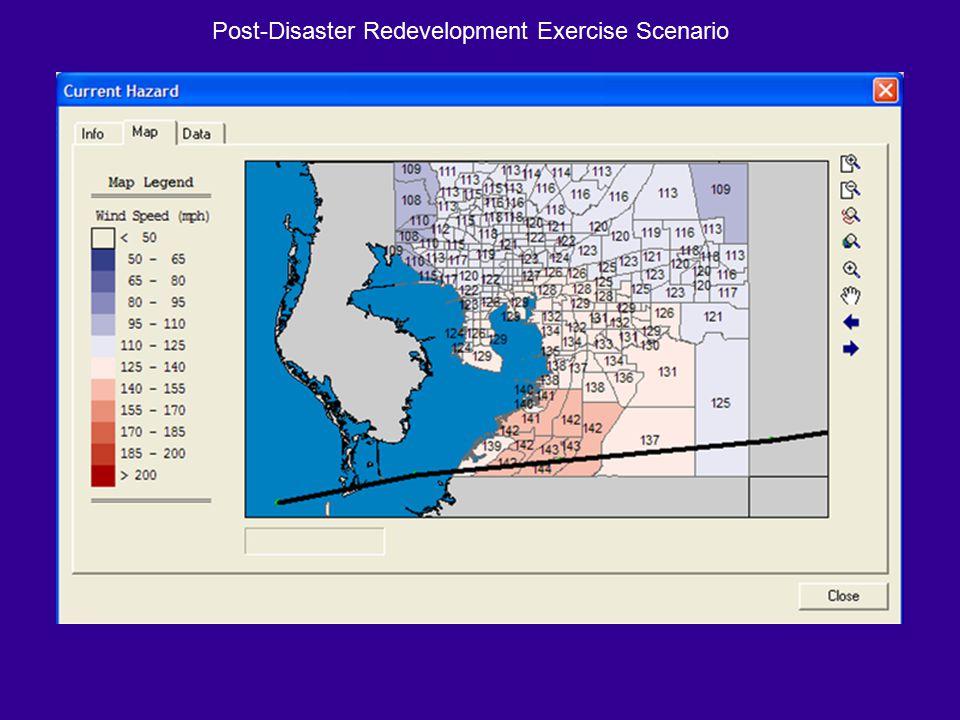 Post-Disaster Redevelopment Exercise Scenario