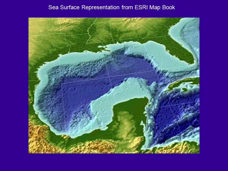 Sea Surface Representation from ESRI Map Book
