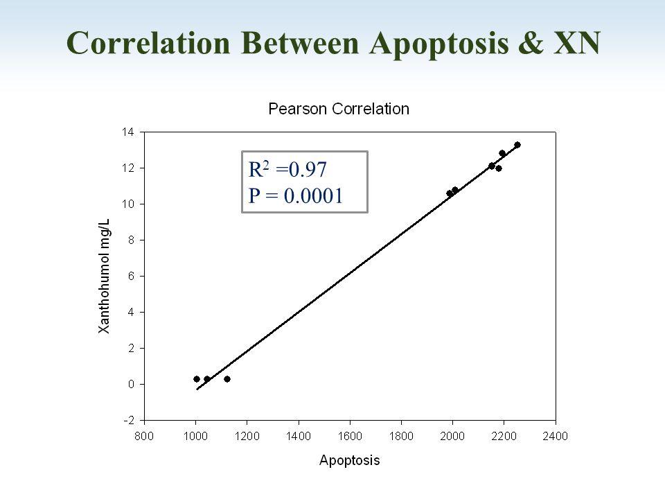 Correlation Between Apoptosis & XN R 2 =0.97 P = 0.0001