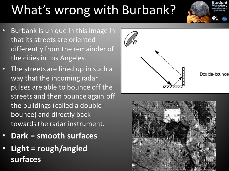 Burbank is unique in this image in that its streets are oriented differently from the remainder of the cities in Los Angeles.