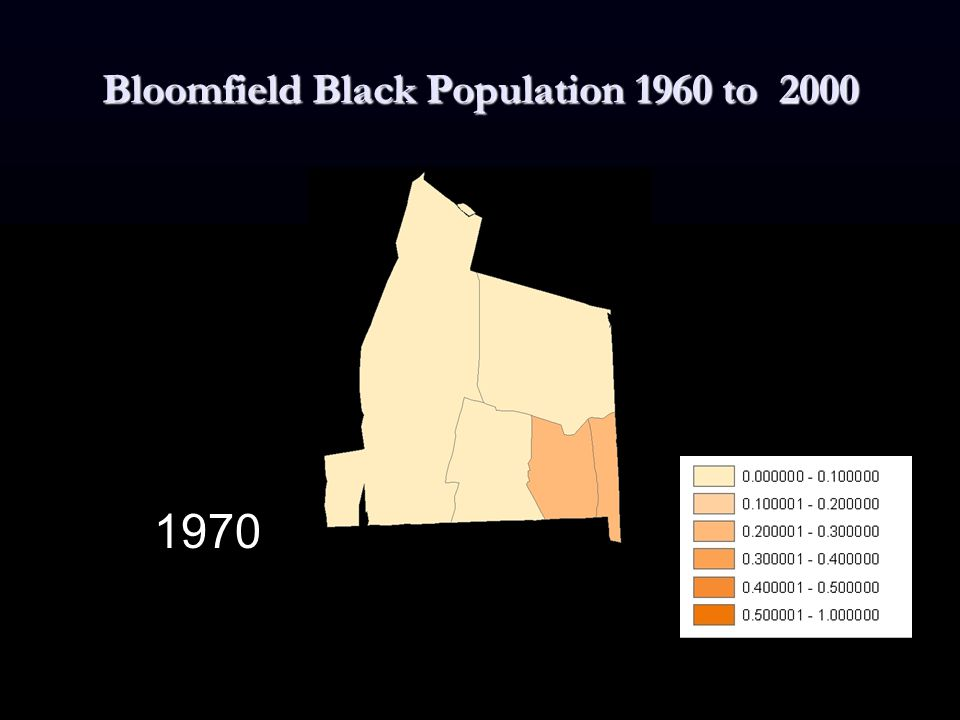 Bloomfield Black Population 1960 to 2000 1970