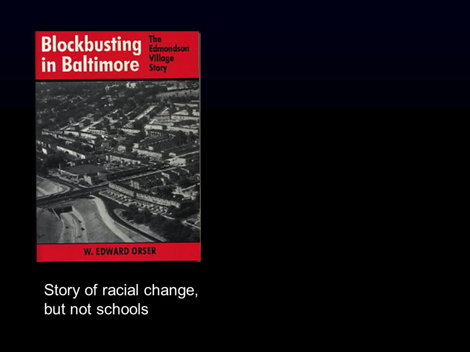 Story of racial change, but not schools