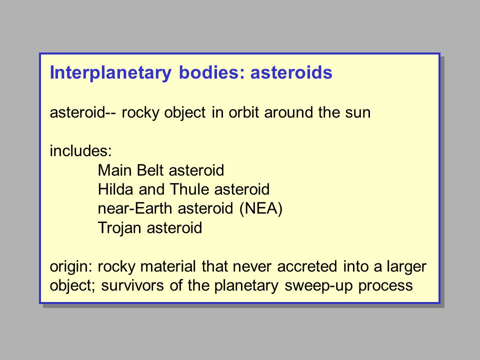 Asteroids: different types in different locations