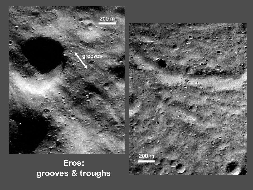 Eros: grooves & troughs