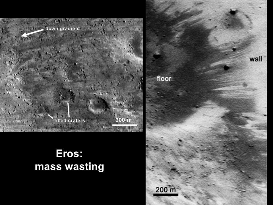 Eros: mass wasting