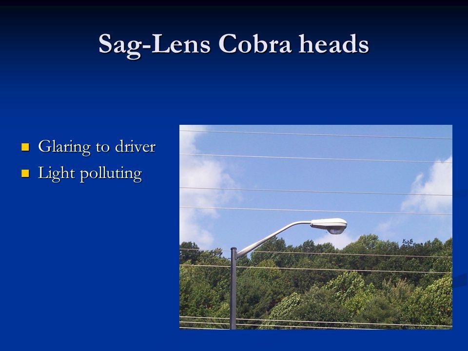 Sag-Lens Cobra heads Glaring to driver Glaring to driver Light polluting Light polluting