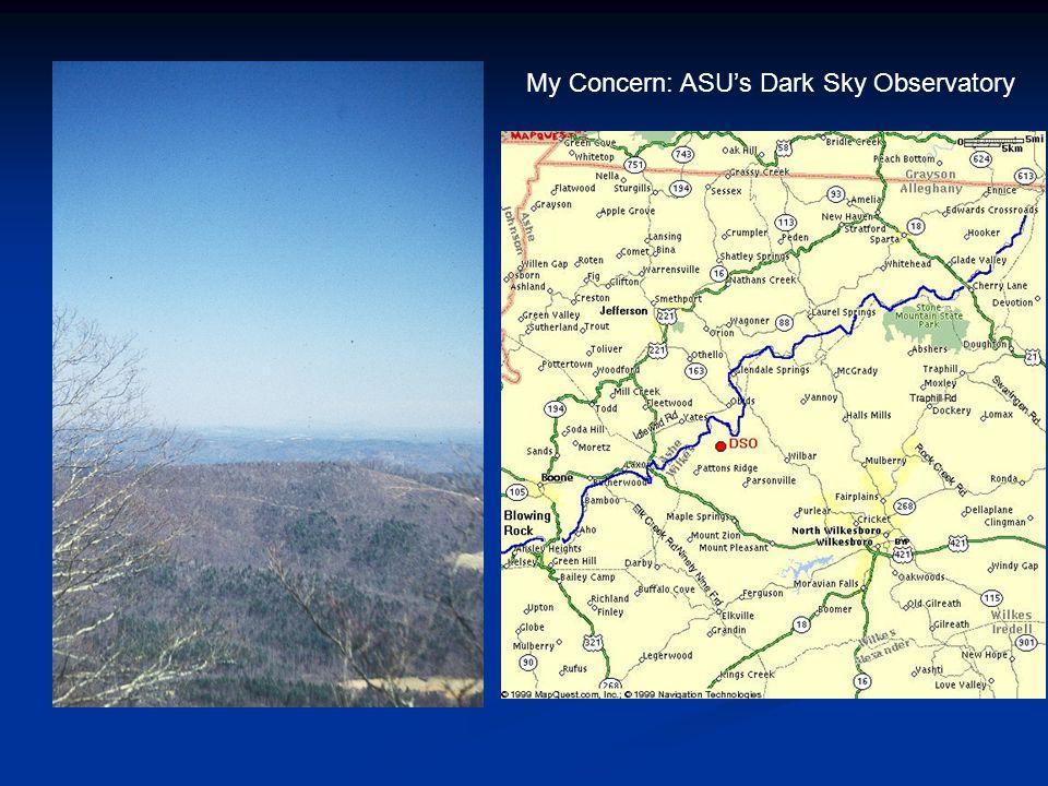 My Concern: ASU's Dark Sky Observatory