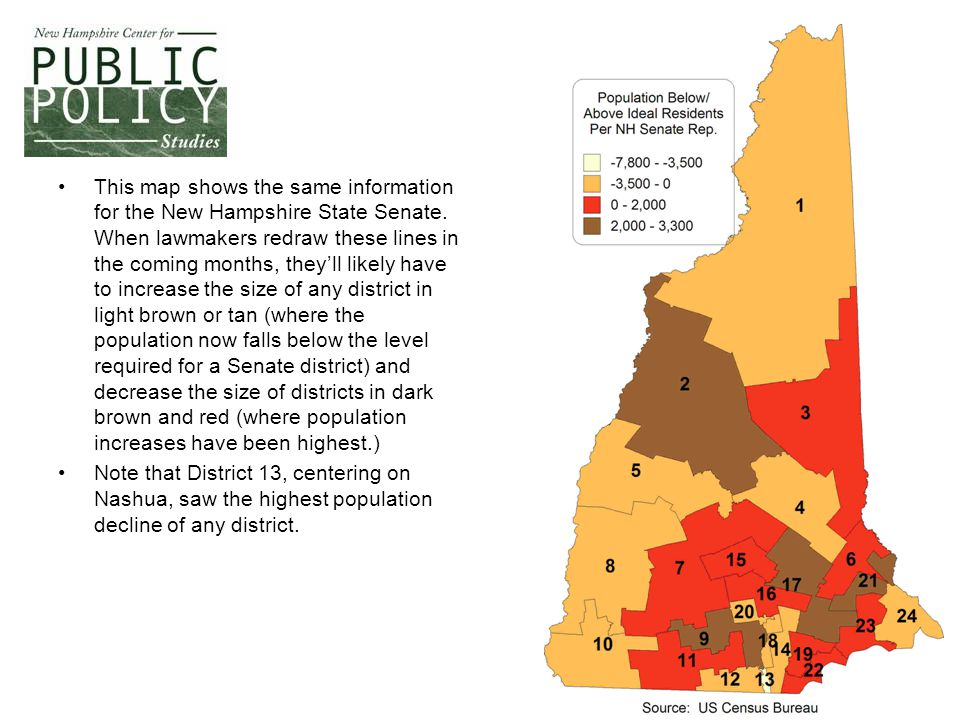 This map shows the same information for the New Hampshire State Senate.