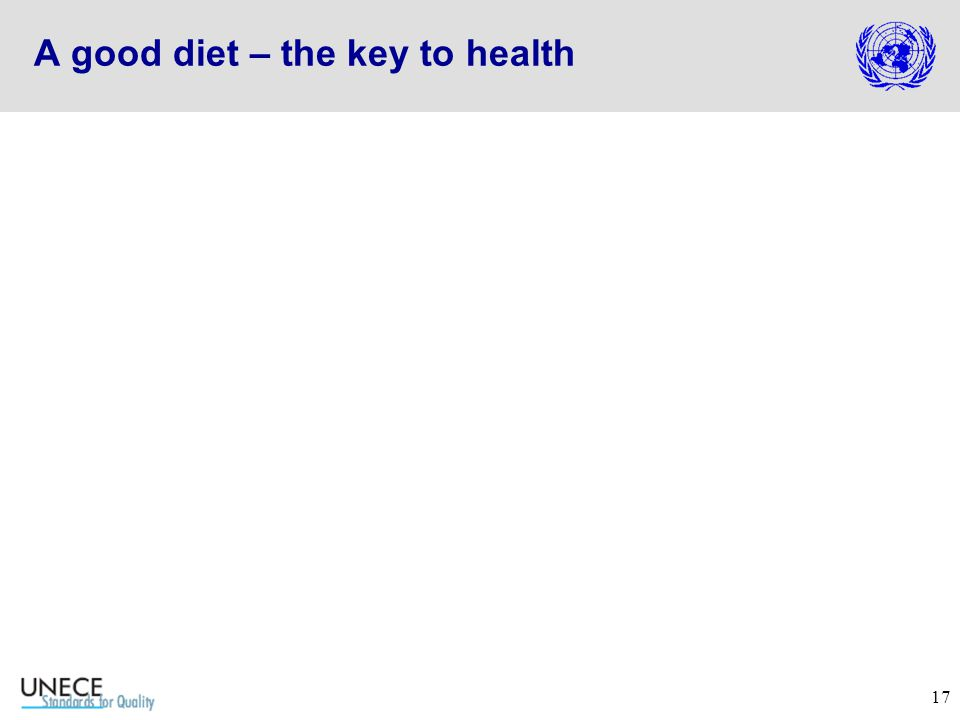 17 A good diet – the key to health