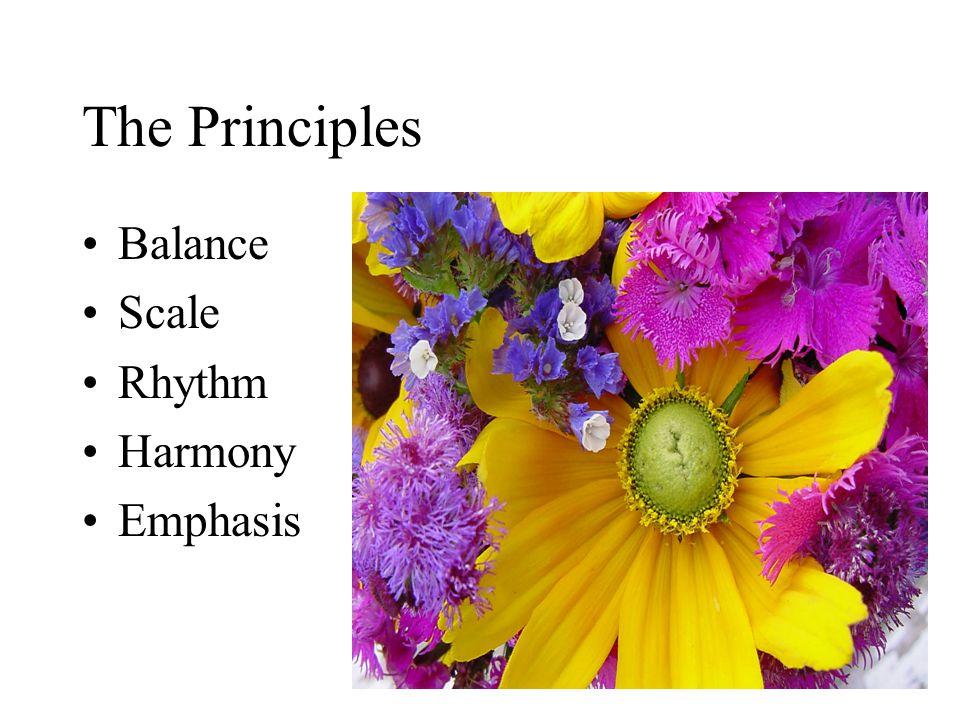 The Principles Balance Scale Rhythm Harmony Emphasis