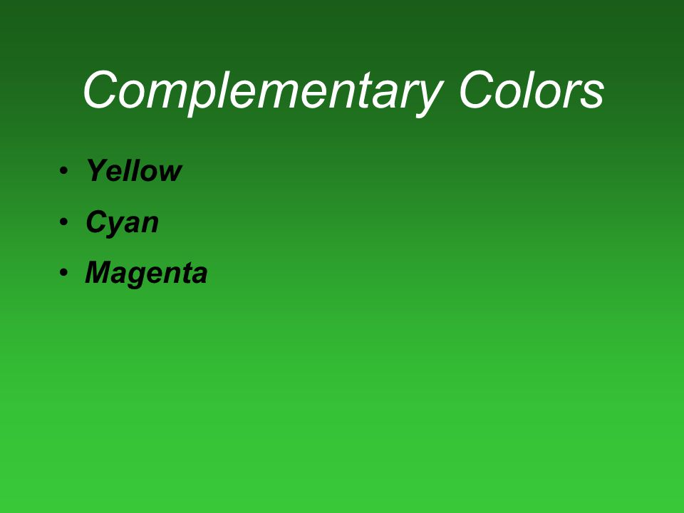Complementary Colors Yellow Cyan Magenta