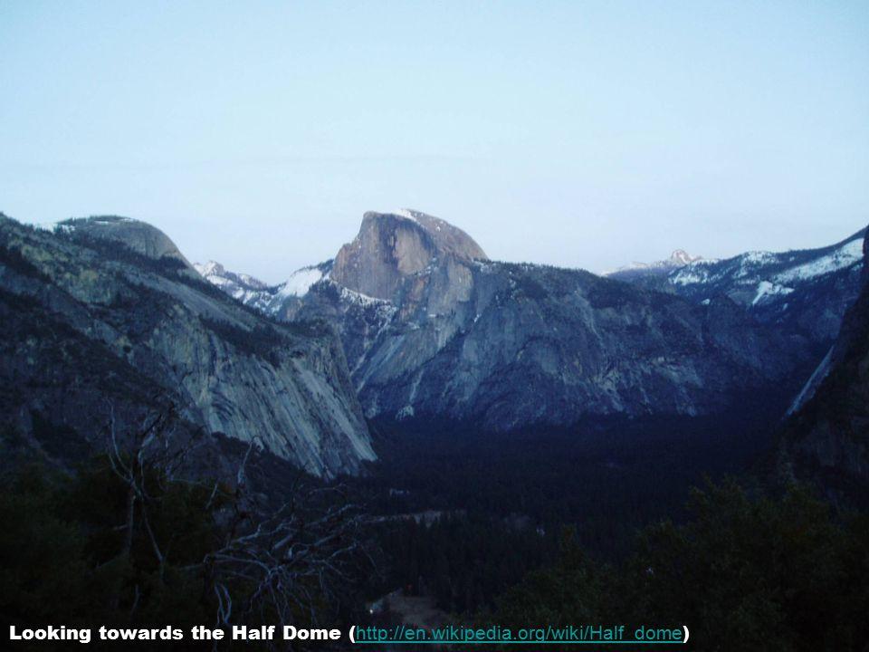 Half way up – looking towards the Upper Yosemite Falls – ( http://en.wikipedia.org/wiki/Yosemite_Falls ) http://en.wikipedia.org/wiki/Yosemite_Falls