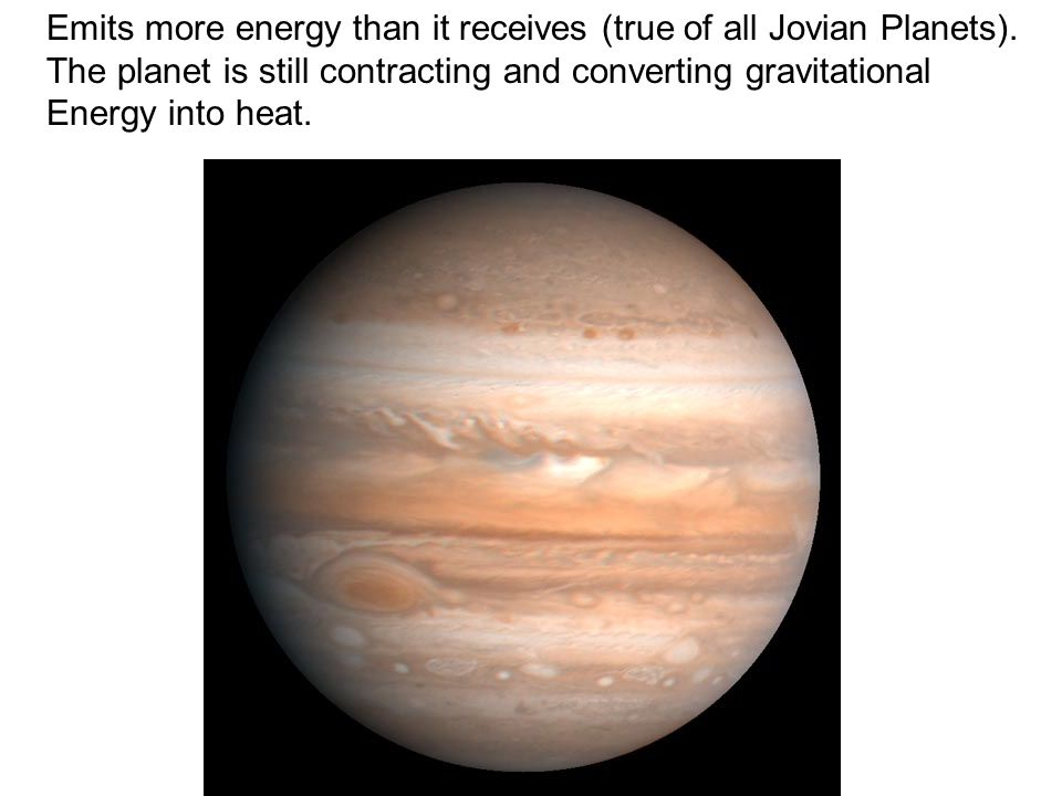 Emits more energy than it receives (true of all Jovian Planets).