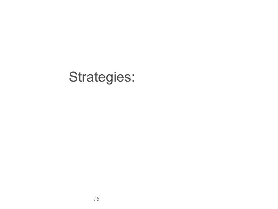 16 Strategies: