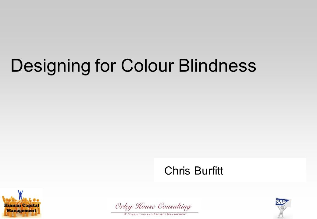 Chris Burfitt Designing for Colour Blindness