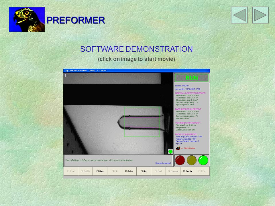 SOFTWARE DEMONSTRATION (click on image to start movie) PREFORMER