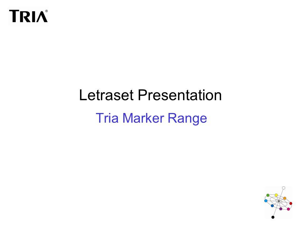 Letraset Presentation Tria Marker Range