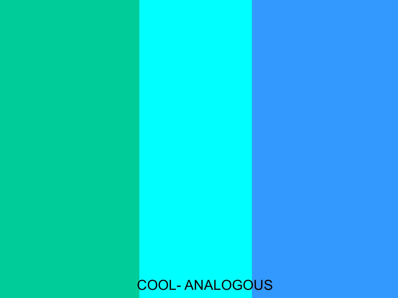Complementary Hues These colors lie directly opposite each other on the color wheel.