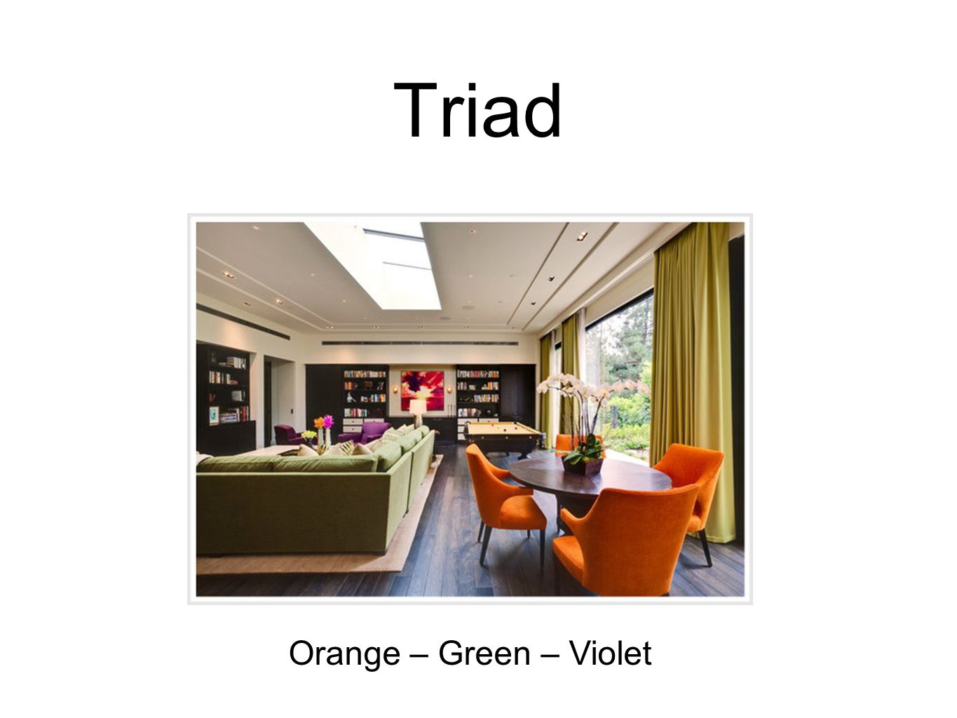 Tetrad  Any four hues equidistant from each other on the color wheel  These schemes can lead to rich, yet unified interiors.