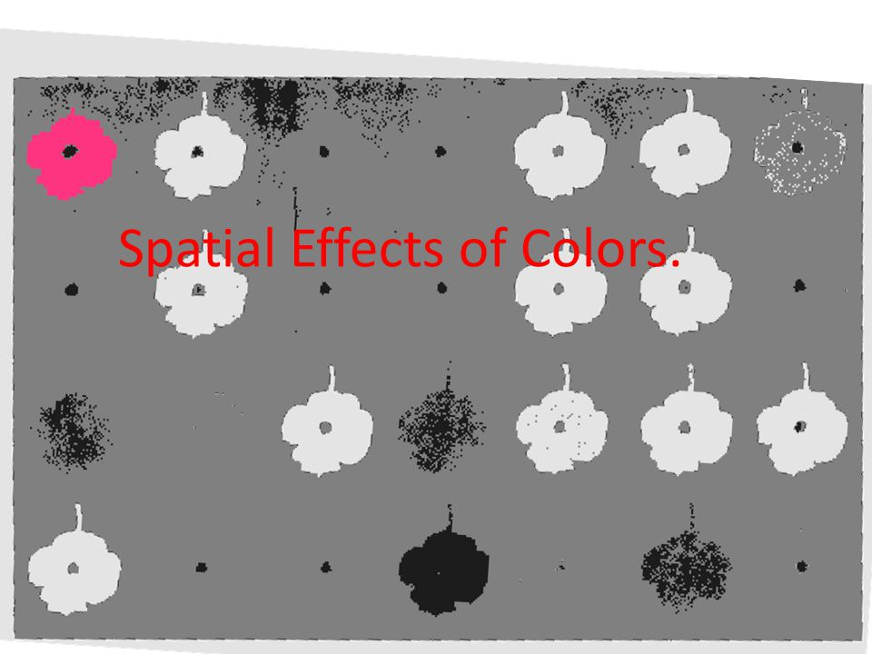 Spatial Effects of Colors.