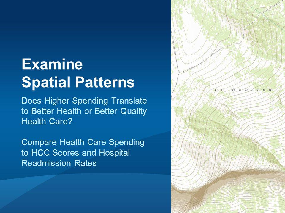 Hot Spot Map of Per Capita Medicare Spending